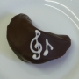 Chocolate Fortune Cookies - Music Notes